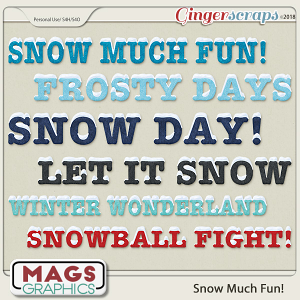 Snow Much Fun TITLES by MagsGraphics