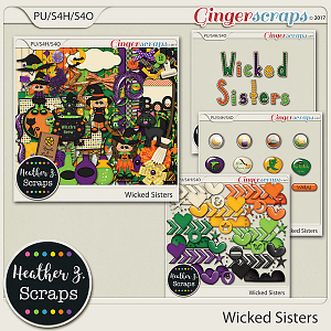 Wicked Sisters BUNDLE by Heather Z Scraps