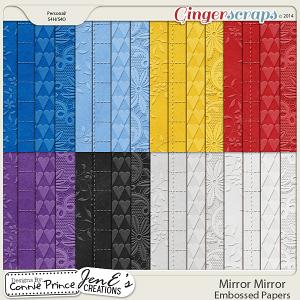 Mirror Mirror - Embossed Papers