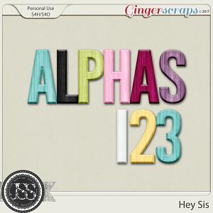 Hey Sis Alphabets