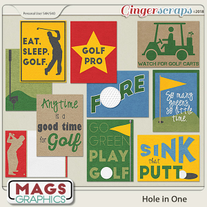 Hole In One Golf JOURNAL CARDS by MagsGraphics