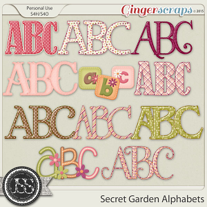 Secret Garden Alphabets