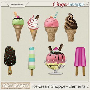 Ice Cream Shoppe Ice Cream Elements