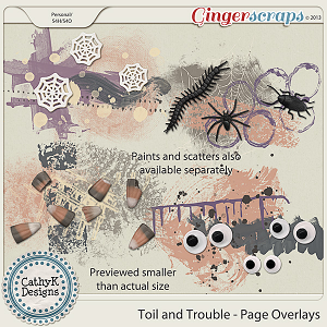 Toil and Trouble Page Overlays: by CathyK Designs