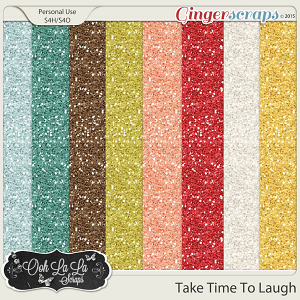 Take Time To Laugh Glitter Sheets