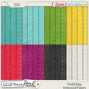 Field Day - Embossed Papers
