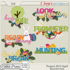 Project 2015 April - WordArt Pack