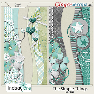 The Simple Things Borders by Lindsay Jane