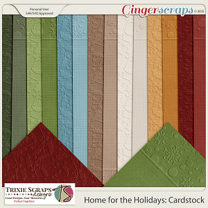 Home for the Holidays Cardstock by Trixie Scraps Designs