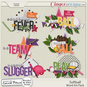 Softball - WordArt