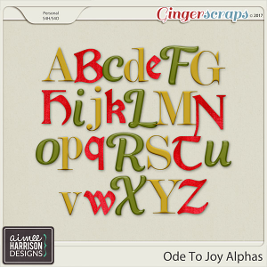 Ode to Joy Alpha Sets by Aimee Harrison