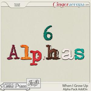 When I Grow Up - Alpha Pack AddOn