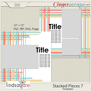 Stacked Pieces 7 Templates by Lindsay Jane