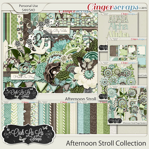 Afternoon Stroll Digital Scrapbooking Collection