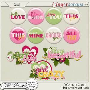 Woman Crush - Flair & Word Art Pack