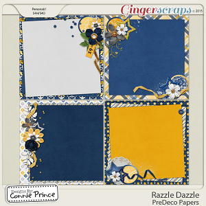 Razzle Dazzle - PreDeco Papers