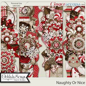Naughty Or Nice Page Borders