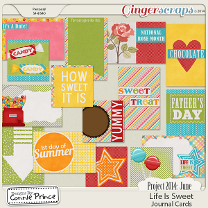 Project 2014 June:  Life Is Sweet - Journal Cards