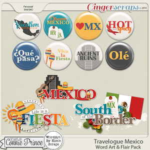 Travelogue Mexico - Word Art & Flair Pack