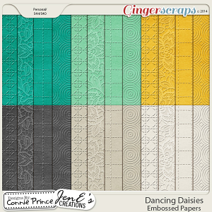 Dancing Daisies - Embossed Papers
