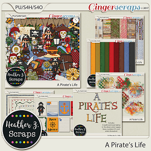 A Pirate's Life BUNDLE by Heather Z Scraps