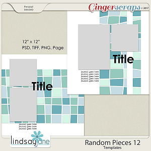 Random Pieces 12 Templates by Lindsay Jane