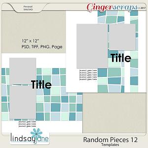 Random Pieces 12 Templates by Lindsay Jane