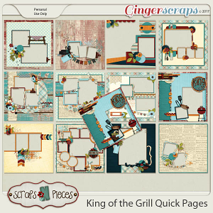 King of the Grill Quick Pages by Scraps N Pieces
