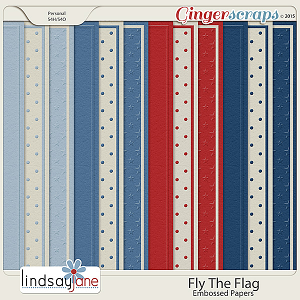 Fly The Flag Embossed Papers by Lindsay Jane