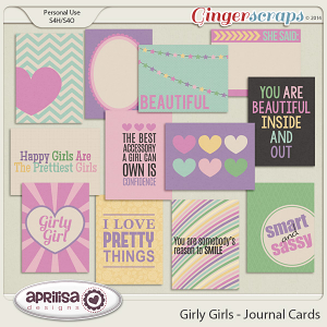 Girly Girls - Journal Cards