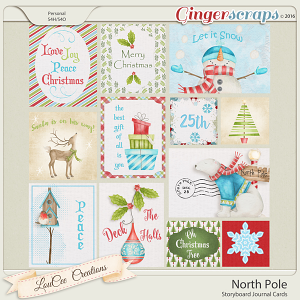 North Pole Storyboard Journal Cards