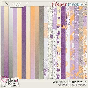 Memories: February 2018 - Ombre & Artsy Papers- by Neia Scraps