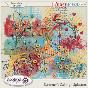 Summer's Calling - Splatters by Aprilisa Designs