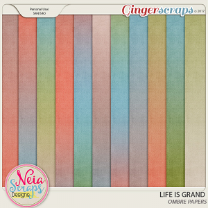 Life Is Grand - Ombre Papers - By Neia Scraps