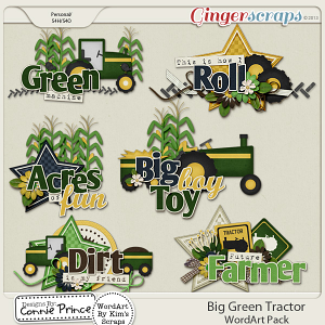 Retiring Soon - Big Green Tractor - WordArt