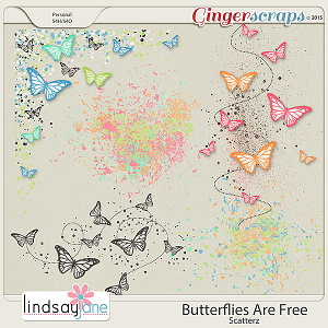 Butterflies Are Free Scatterz by Lindsay Jane