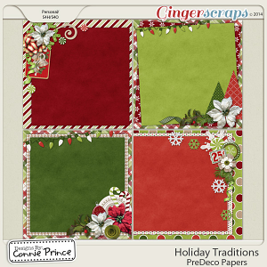 Holiday Traditions - PreDeco Papers