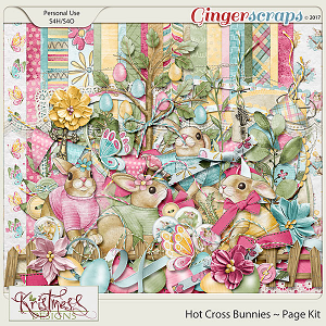 Hot Cross Bunnies Page Kit