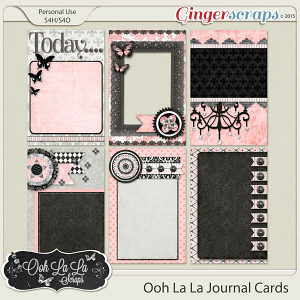 Ooh La La Journl and Pocket Scrapbooking Cards