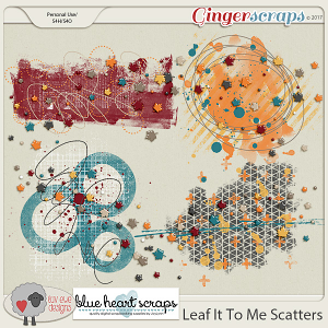 Leaf It To Me Scatters By Luv Ewe Designs and Blue Heart Scraps