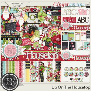Up On The Housetop Digital Scrapbooking Collection