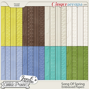 Song Of Spring - Embossed Papers