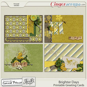 Brighter Days - Printable Greeting Cards