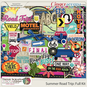 Summer Road Trip Full Kit by Trixie Scraps Designs