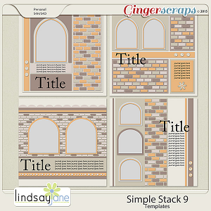 Simple Stack 9 Templates by Lindsay Jane