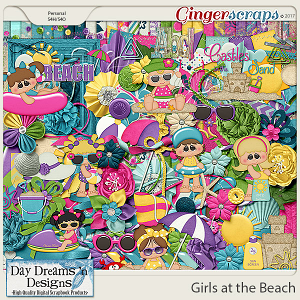 Girls at the Beach {Kit} by Day Dreams 'n Designs