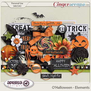 O'Halloween Elements by Aprilisa Designs