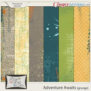 Adventure Awaits {grunge} by Little Rad Trio