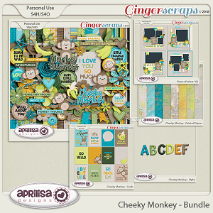Cheeky Monkey - Bundle by Aprilisa Designs