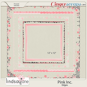 Pink Inc Edges by Lindsay Jane